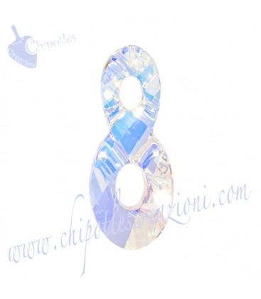 Ciondolo Infinito Infinity Swarovski® 6792 18 mm Crystal AB