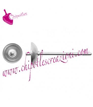 Perni Orecchini per Perle Mezzo Foro diametro 5 mm Acciaio Inossidabile