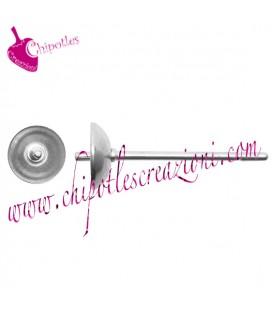 Perni Orecchini per Perle Mezzo Foro diametro 5 mm Acciaio Inossidabile (1 paio)