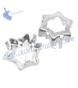 Castone con 6 Fori per Swarovski® Edelweiss 4753 14 mm Fondo Aperto Vari Colori