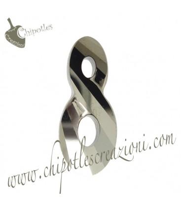 Ciondolo Infinito Infinity Swarovski® 6792 18 mm Crystal Metallic Light Gold 2x