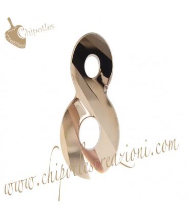 Ciondolo Infinito Infinity Swarovski® 6792 18 mm Crystal Rose Gold 2x