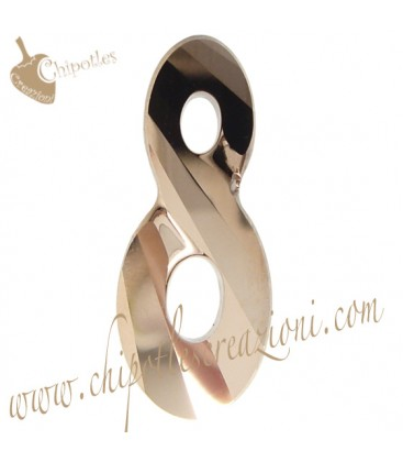 Ciondolo Infinito Infinity Swarovski® 6792 26 mm Crystal Rose Gold 2x