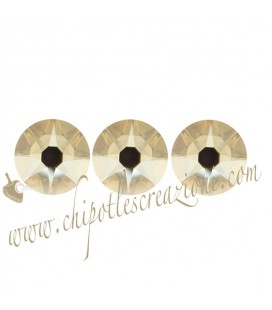 Flat Backs No Hotfix Swarovski® Xirius Rose 2088 SS34 7,07-7,27 mm Crystal Golden Shadow (12 pezzi)