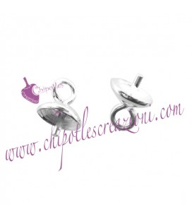Perno per Perla con Anellino 7x5 mm Argento 925