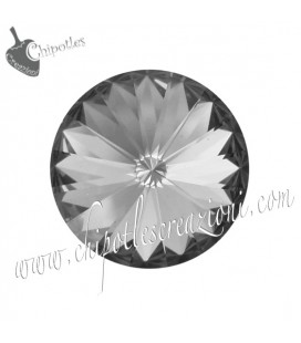 Rivoli Swarovski® 1122 12 mm Crystal Silver Night