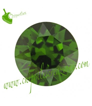 Chaton Swarovski® 1088 SS39 8 mm Dark Moss Green