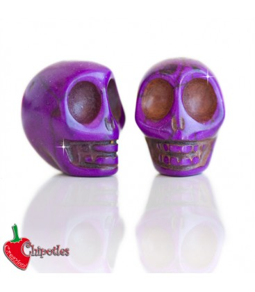 Perla Teschio18x14 mm colore Viola