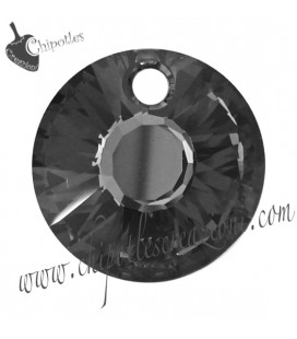Ciondolo Swarovski® Sun Pendant 6724 12 mm Crystal Silver Night (4 pezzi)