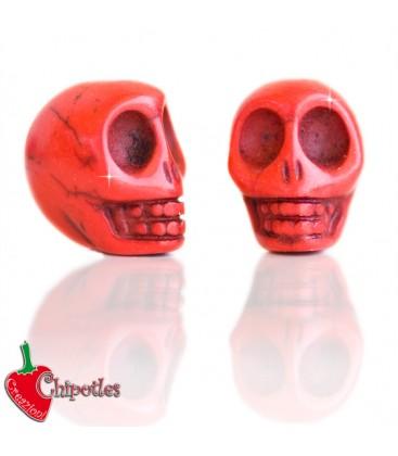 Perla Teschio18x14 mm colore Rosso