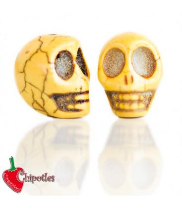 Perla Teschio18x14 mm colore Giallo