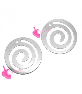 Ciondolo Spirale 18 mm Acciaio Inossidabile (2 pezzi)