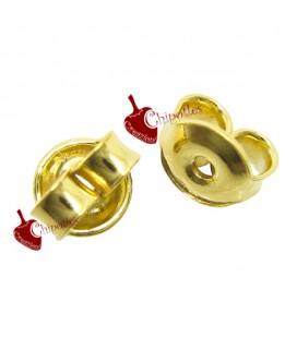 Farfalline Retro Orecchini 4,5x4 mm Argento 925 Placcate Oro 24 K