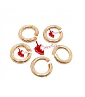 Anellini Apribili 5 mm Ottone color Oro Rosa (5 grammi)