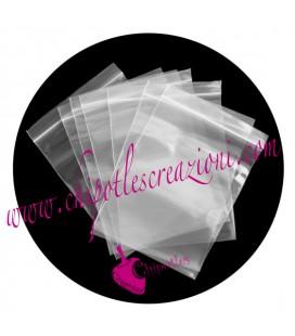 Bustine Plastica con Chiusura a Zip 13x9 cm (10 pezzi)