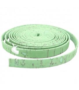 Cordoncino Piatto Sughero 10 mm Verde Menta