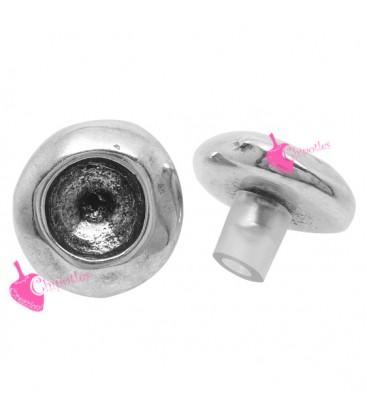 Castone 16 mm con Perno per Chaton 1088 SS39 colore Argento Antico