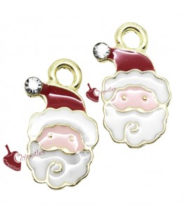 Charm Ciondolo Babbo Natale Smaltato 17x11 mm (5 pezzi)