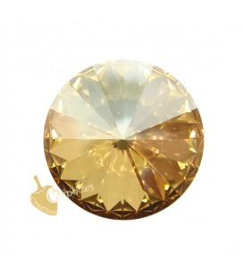 Rivoli Swarovski® 1122 12 mm Crystal Golden Shadow