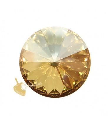 Rivoli Swarovski® 1122 12 mm Crystal Golden Shadow