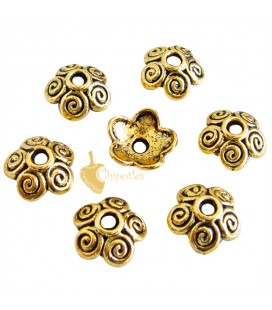 Coppetta Copriperla Fiore 10x4 mm color Oro