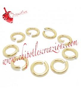 Anellini Apribili Alluminio 8,5x1,5 mm color Oro