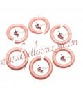 Anellini Apribili Alluminio 8,5x1,5 mm Rosa Corallo Opaco