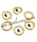 Anellini Apribili Alluminio 8,5x1,5 mm colore Oro Opaco