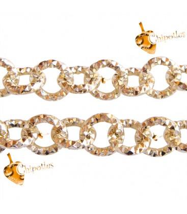 Catena Diamantata 10x10x2 mm Alluminio colore Oro