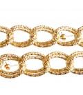 Catena Doppia Groumette Diamantata 24x19 mm colore Oro