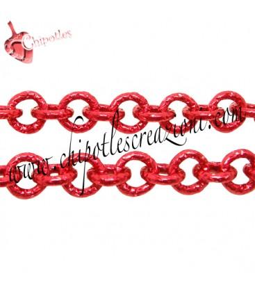 Catena Diamantata 8 mm colore Rosso