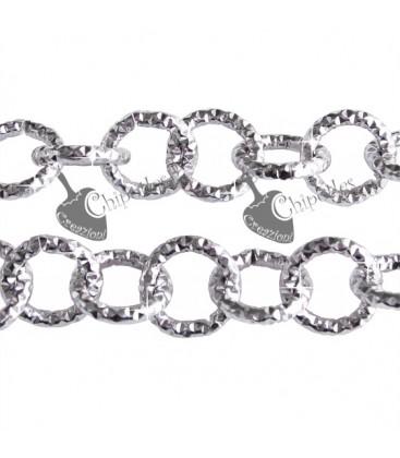 Catena Diamantata 12 mm Alluminio colore Argento