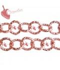 Catena Diamantata 12 mm Alluminio colore Rosa Corallo