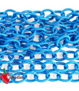 Catena Zigrinata Nido d'Ape Lavorata 20x15x3 mm Alluminio colore Bluette