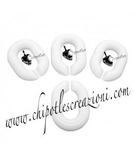Maglia Ovale in Resina 20x14 mm colore Bianco
