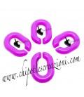 Maglia Ovale in Resina 20x14 mm colore Viola