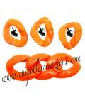 Maglia in Resina 24x18 mm colore Arancione