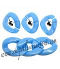 Maglia in Resina 24x18 mm colore Azzurro