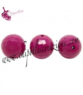 Perla 16 mm Acrilico colore Melanzana