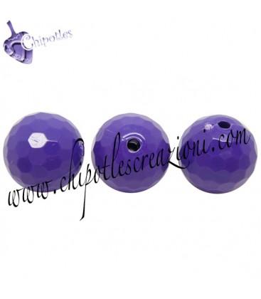 Perla 16 mm Acrilico colore Viola