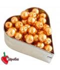 Perle 8 mm Vetro Cerato colore Arancione Chiaro (100 pezzi)