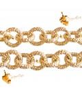 Catena Zigrinata Stardust 10x10x2 mm Alluminio colore Oro