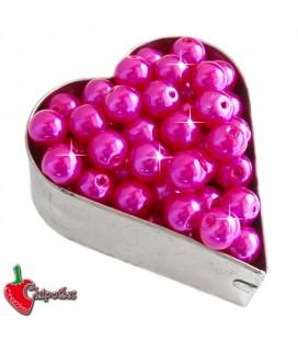 Perle 8 mm Vetro Cerato colore Fucsia Acceso (100 pezzi)