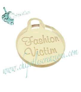 Ciondolo Fashion Victim 25x21 mm plexiglass specchiato Oro