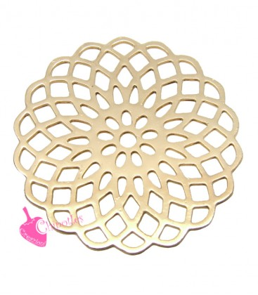 Ciondolo Filigrana Ottone 19 mm colore Oro Rosa