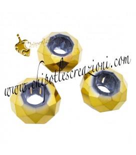 Perla Rondella Foro Largo 14x8 mm color Oro