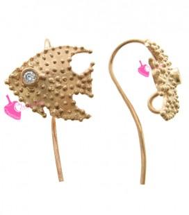 Monachelle per Orecchini con Pesce Argento 925 colore Oro Rosa
