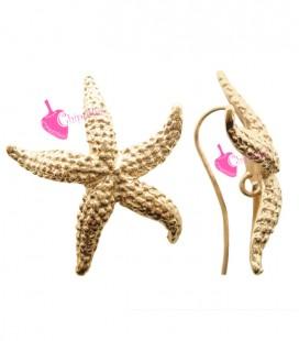 Monachelle per Orecchini con Stella Marina 925 colore Oro Rosa