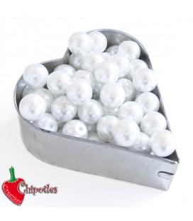 Perle 8 mm Vetro Cerato colore Bianco (100 pezzi)
