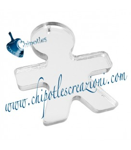 Ciondolo Bimbo 40x34 mm Plexiglass Vari Colori